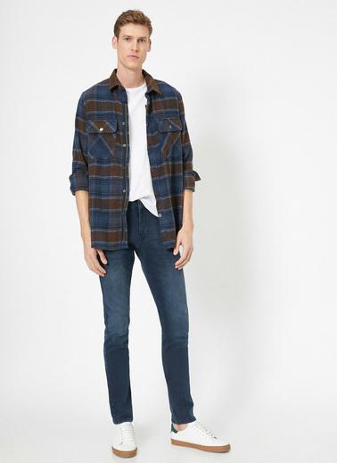 Koton Brad Slim Fit Jean Pantolon Mavi
